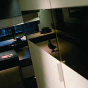 现代白色单身公寓设计客厅陈设