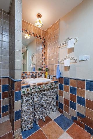 125平蓝白地中海住宅欣赏卫生间设计