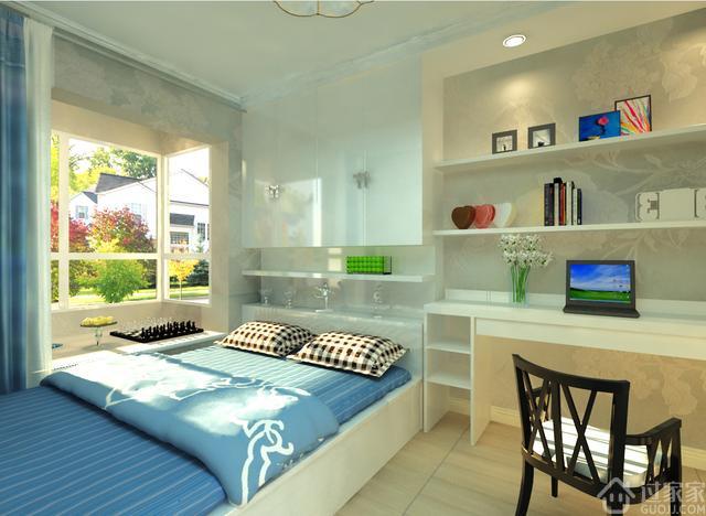 90平简欧风格装修设计方案,小户型的家实用就好图片