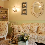 欧式田园风沙发背景墙挂画