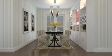 112平白色简欧三居室欣赏餐厅餐桌