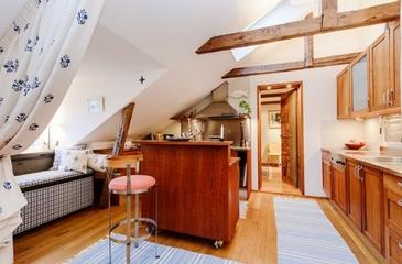 明亮阁楼设计欣赏厨房吧台