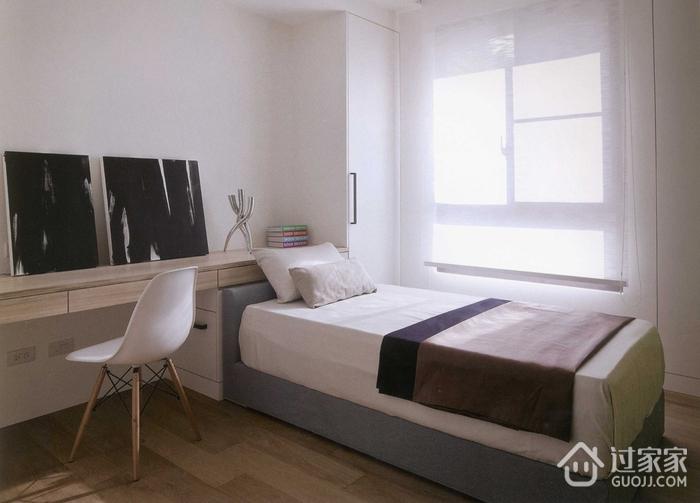 71平简约两居室案例欣赏卧室窗户