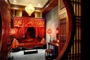 仿古典风卧室效果图