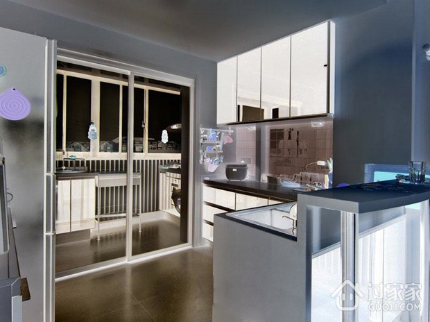 简约三室两厅住宅案例欣赏厨房橱柜