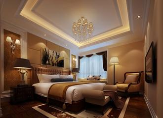 120平法式经典三居欣赏卧室陈设