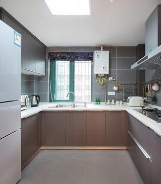 时尚棕色厨房橱柜效果图