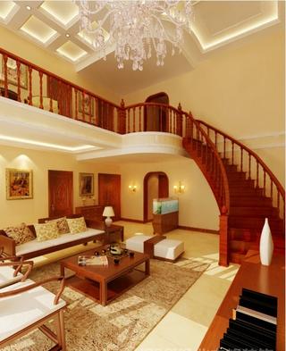 140平欧式奢华经典住宅欣赏客厅