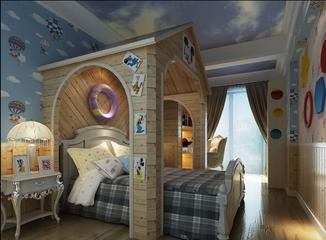 180平欧式效果图欣赏儿童房