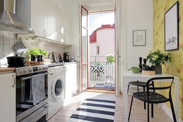 43平白色宜家阁楼欣赏厨房