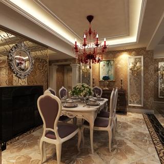 118平简欧三居室案例欣赏餐厅餐桌