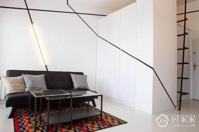 白色现代67平单身公寓欣赏