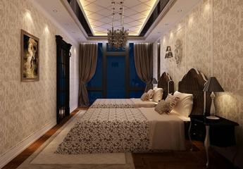 新古典四居室案例欣赏卧室吊顶