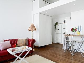 白色现代风一居室欣赏