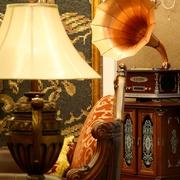 中式风家居效果客厅灯具