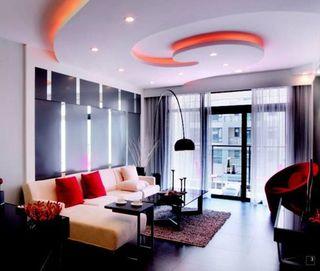 86平方米三室两厅时尚前卫装修 烤漆黑玻璃抛光砖诠释现代生活态度