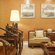 中式风格客厅沙发背景图