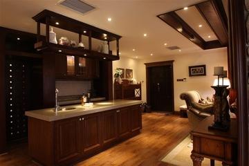 咖啡色欧式样板房欣赏厨房