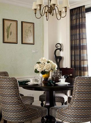 美式餐厅餐桌装修效果图 强烈推荐