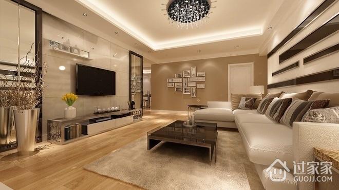 精致空间 时尚现代客厅背景墙效果图