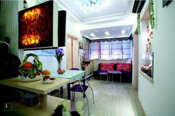 50平方米两室两厅小户型装修 亮丽色调赋予小户型大空间层次感