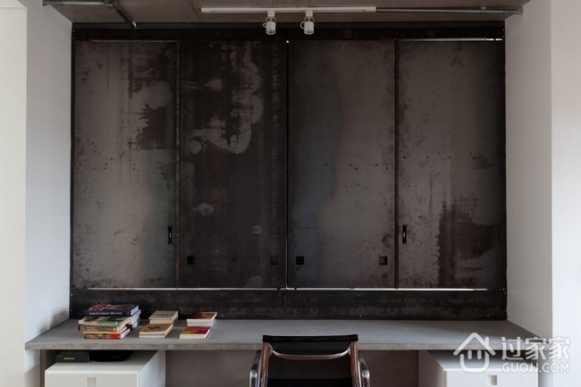 白色现代复式公寓欣赏书房设计