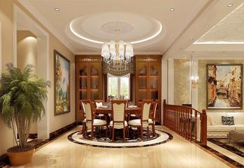 130平美式四居室欣赏