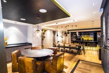 黑色时尚现代住宅欣赏休闲餐厅