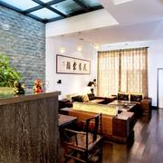 中式古典客厅效果图