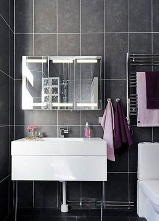 68平白色北欧住宅欣赏卫生间
