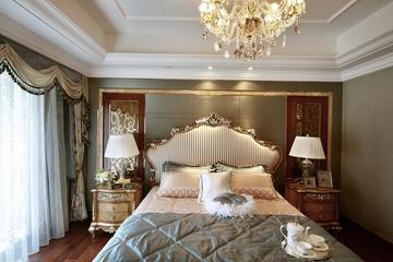 87平贵气美式三居室欣赏卧室灯饰
