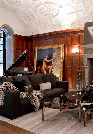 欧式奢华别墅效果图会客厅设计