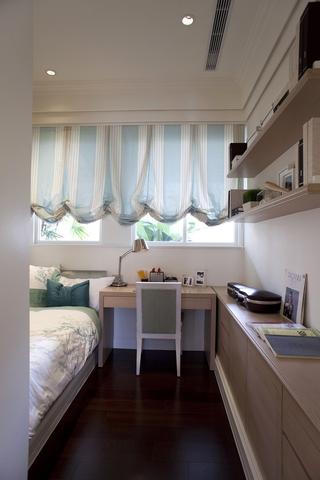 新古典三居室样板房案例欣赏卧室书架设计