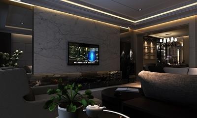 78平现代沉稳住宅欣赏客厅