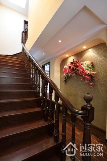 125平简欧舒适住宅欣赏楼梯间