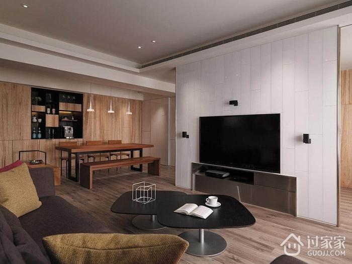 现代风两居室住宅欣赏客厅全景