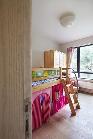 新中式风格质朴三居欣赏儿童房