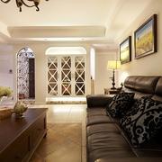 98平美式稳重住宅欣赏客厅设计图