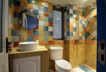 79平地中海温馨住宅欣赏卫生间