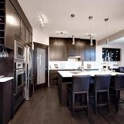 现代黑白灰别墅设计套图厨房设计