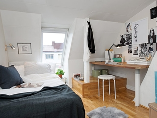 42平宜家阁楼住宅欣赏卧室设计