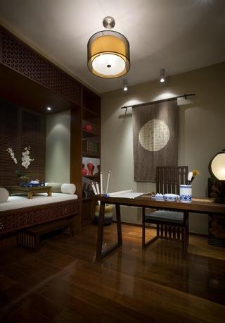 雅致中式三居室案例欣赏书房灯饰