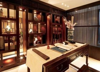 102平中式风格住宅欣赏书房