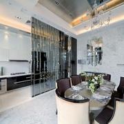 新古典别墅餐厅厨房隔断