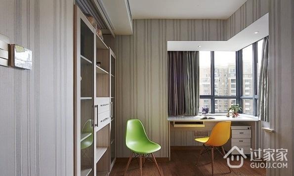 110平现代风案例欣赏卧室衣柜设计