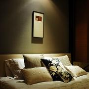 新中式风格卧室角落背景