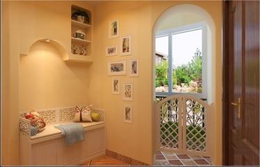 90平田园风住宅欣赏客厅照片墙