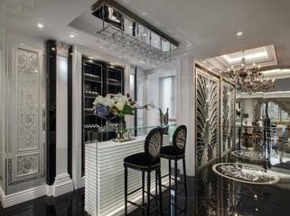 灰色典雅欧式样板间欣赏客厅局部