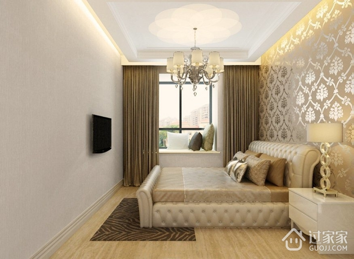 110平简约三居室设计欣赏卧室飘窗