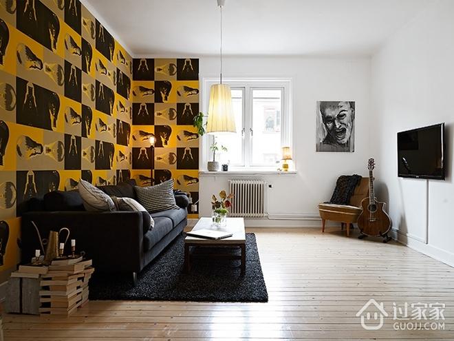 白色宜家风格一居室欣赏